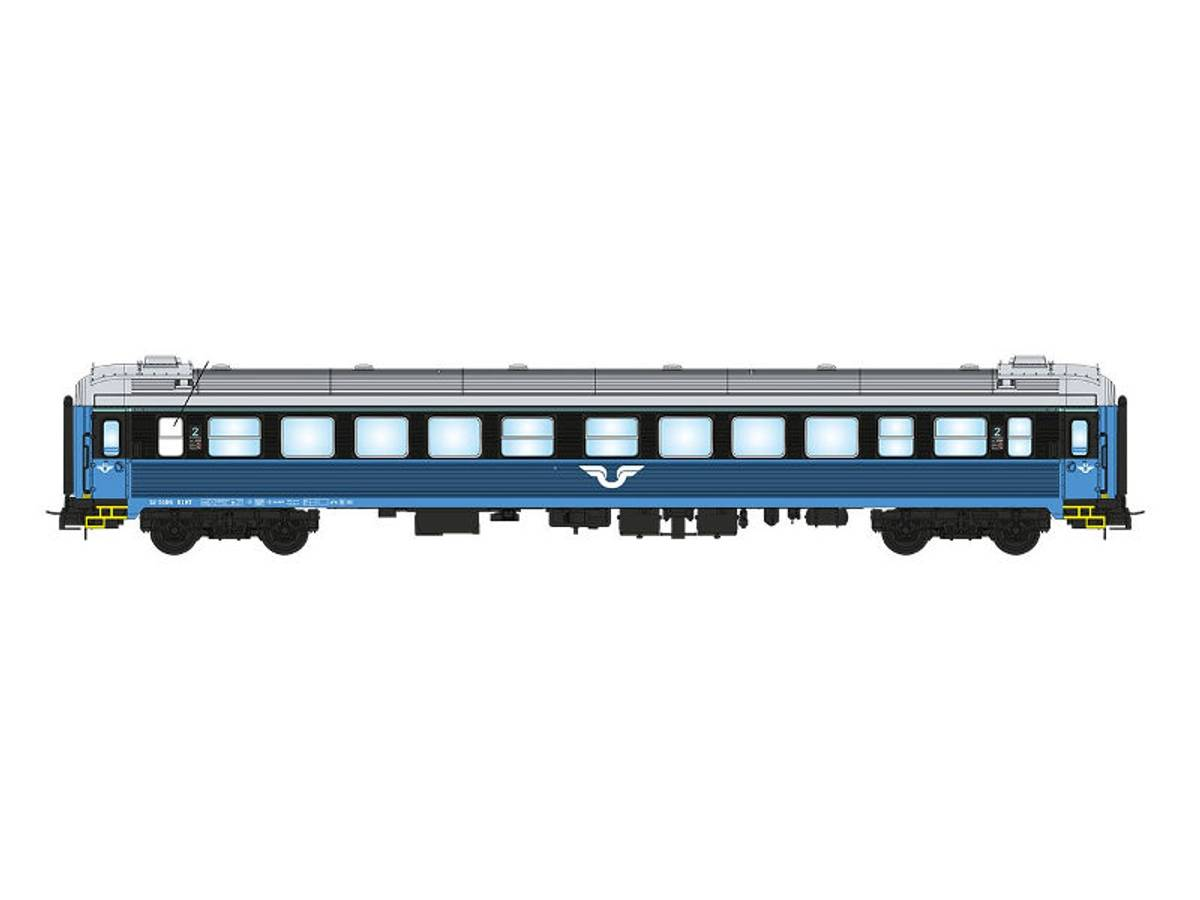 NMJ Topline SJ B1K 5106, 2 kl. Personvogn, blå/sort design V.2