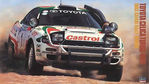 Bilde av Hasegawa - 1/24 Toyota Ceclica Turbo 4WD, 1993 Safari Rally winn