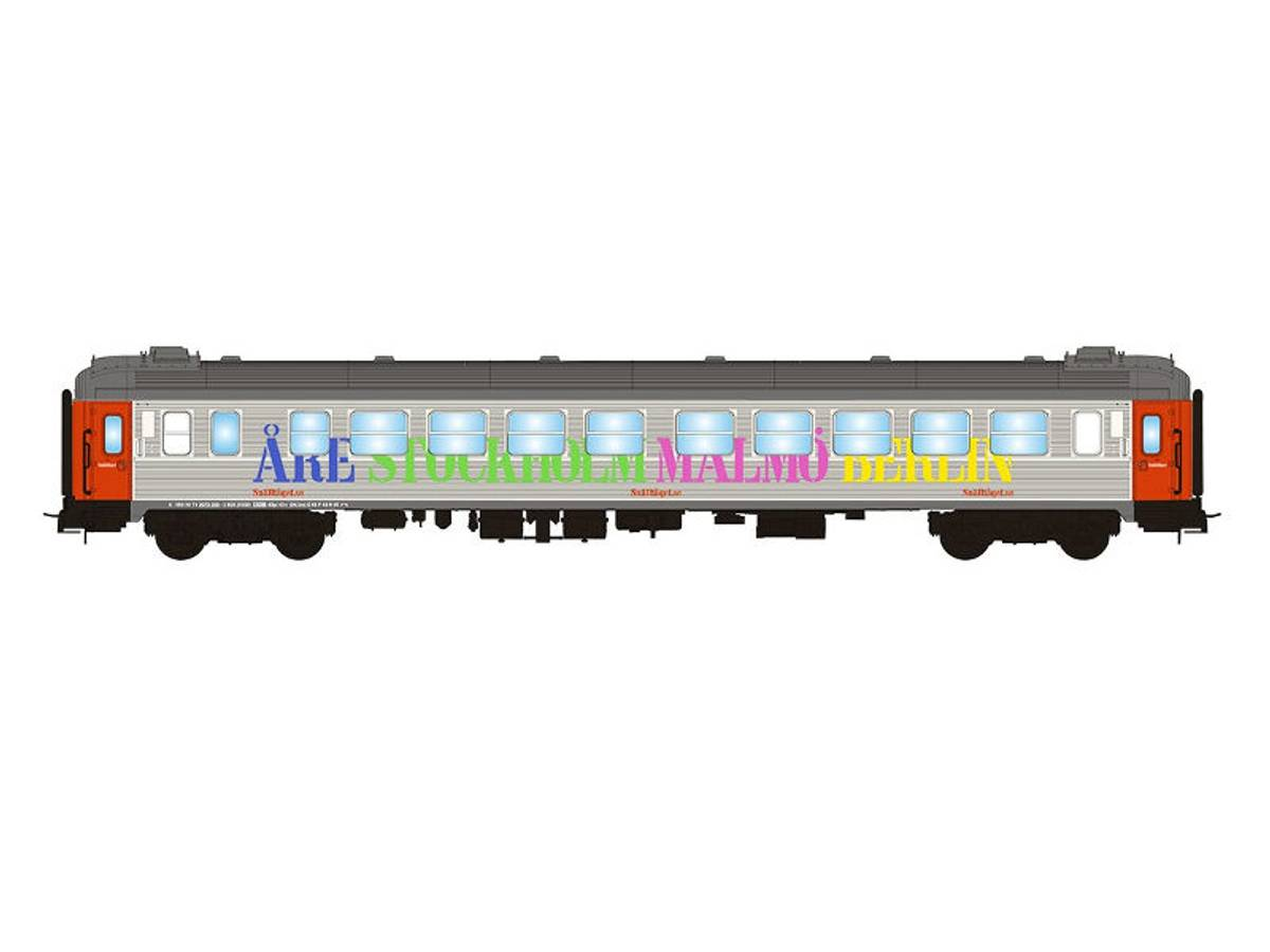 NMJ Topline Snälltåget B1K 5100, 2.klasse personvogn