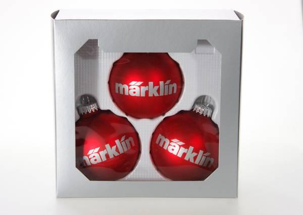 Bilde av Märklin - Juletrekuler 3 stk, røde
