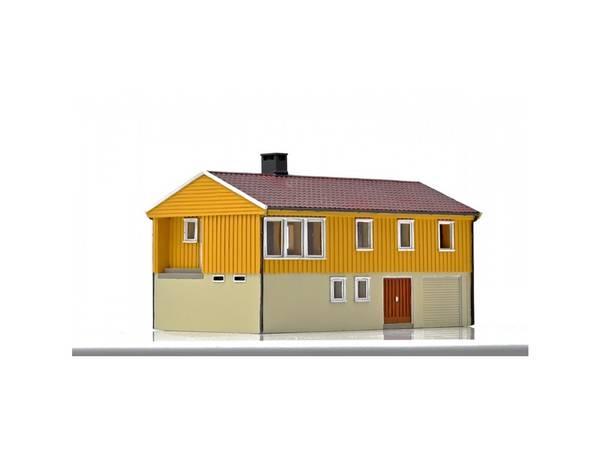 Bilde av NMJ Skyline norsk enebolig m underetasje, gul, ferdigmodell
