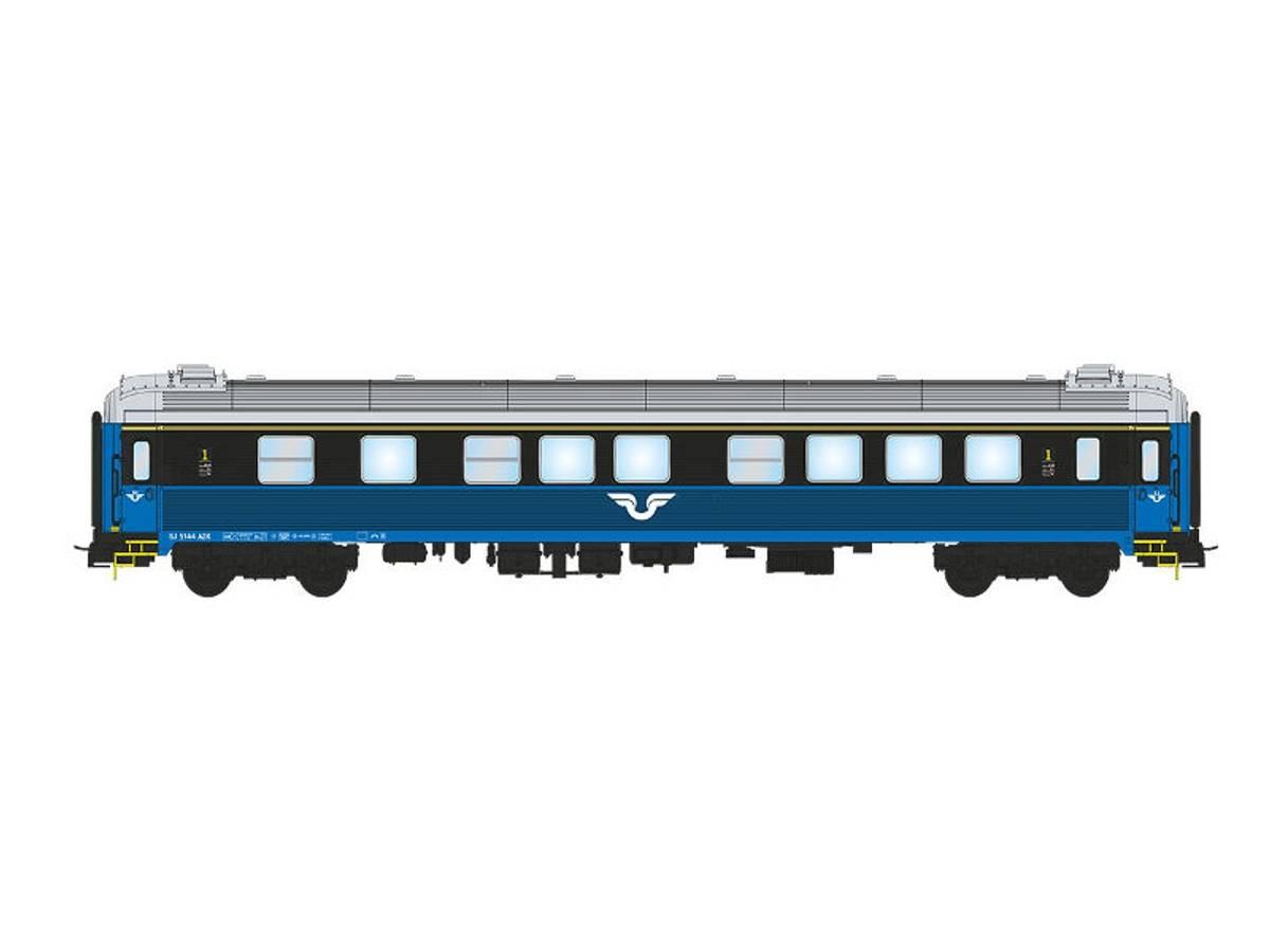 NMJ Topline SJ A2.5144 1 Kl. Personvogn, blå/sort design V.2