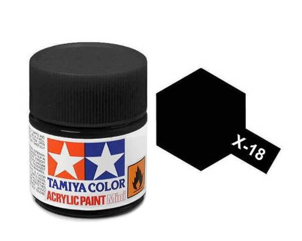 Bilde av Tamiya X-18 Semi Gloss Black