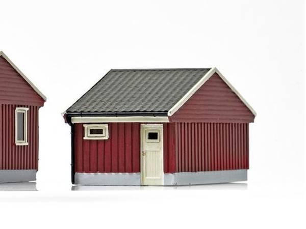 Bilde av NMJ Skyline norsk garasje, rød, ferdigmodell