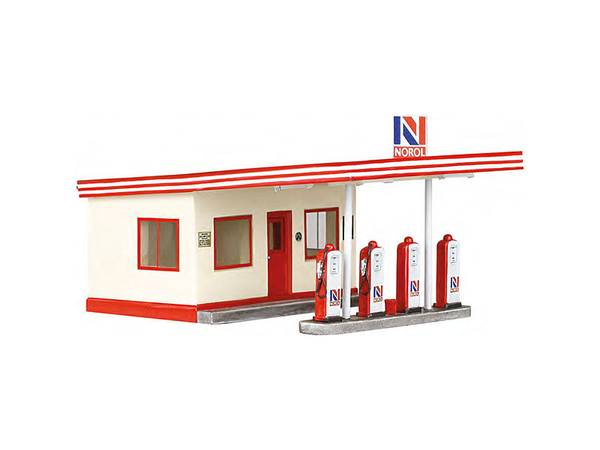 Bilde av NMJ Skyline Norol bensinstasjon, ferdigmodell