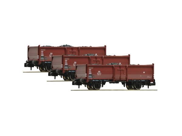 Bilde av Fleischmann N-skala - DB kullvognsett, 3 stk