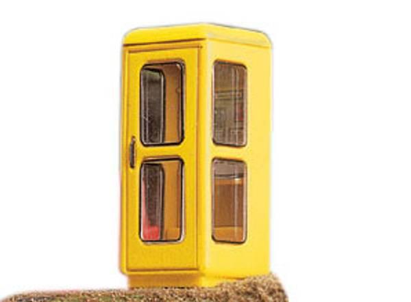 Bilde av Brawa - Telefonkiosk m.lys, gul