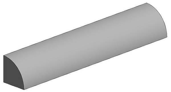 Bilde av Evergreen - Quarter tube 2mm