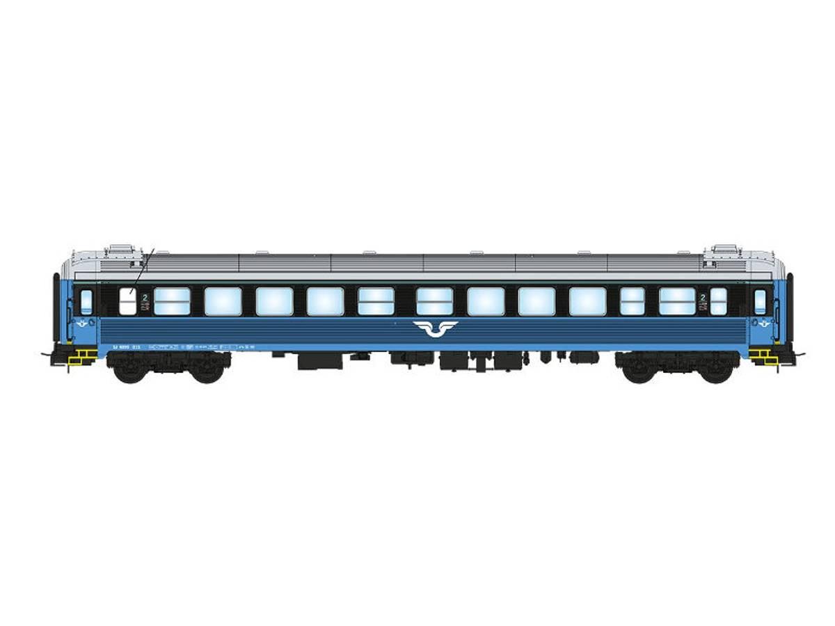 NMJ Topline SJ B1N.4899, 2 kl. Personvogn, blå/sort design V.2