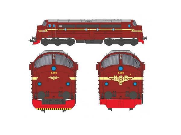 Bilde av NMJ Topline NSB Di3 604, gammeldesign