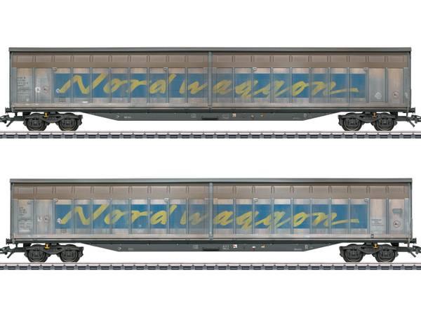 Bilde av Märklin - Transwaggon Sliding Wall Boxcar Set