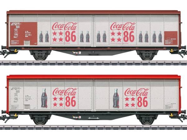 Bilde av Märklin - Type Hbbills Sliding Wall Boxcar Set