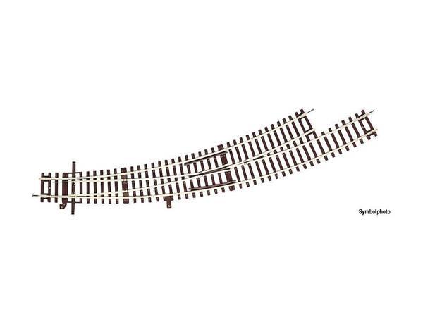 Bilde av RocoLine u.ballast - Sporveksel, buet venstre, R3/R4