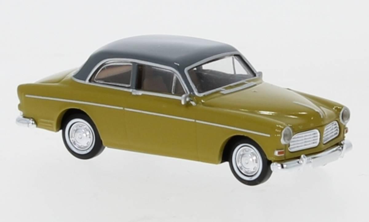 Brekina - Volvo Amazon, 2-dørs gul/grå