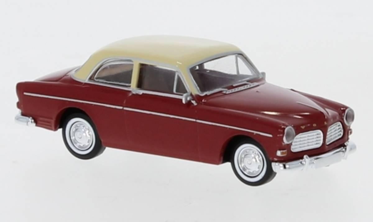 Brekina - Volvo Amazon, 2-dørs rød/hvit