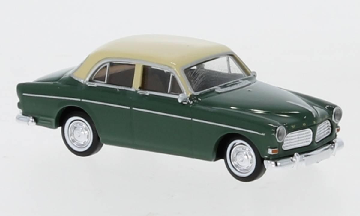 Brekina - Volvo Amazon, 4-dørs grønn/beige
