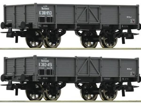 Bilde av Roco - K.B.St.B åpne godsvogner, 2 stk