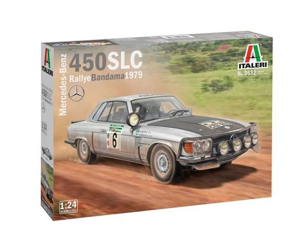 Bilde av Italeri - 1/24 Mercedes 450 SLC Rally del Bandama 1979