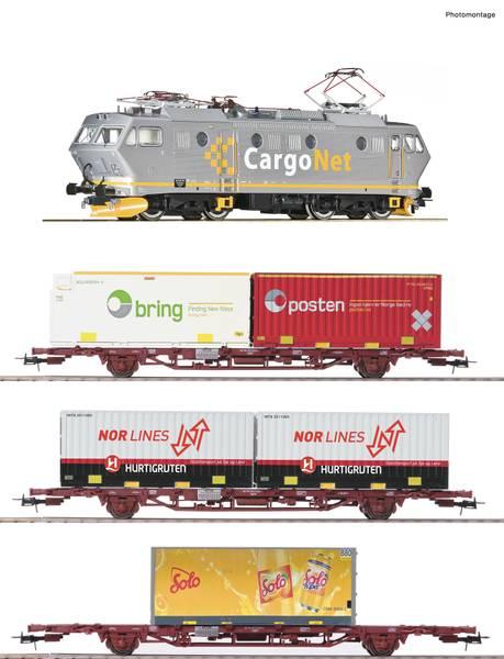 Bilde av Roco - Cargonet El16 togsett med NMJ containervogner