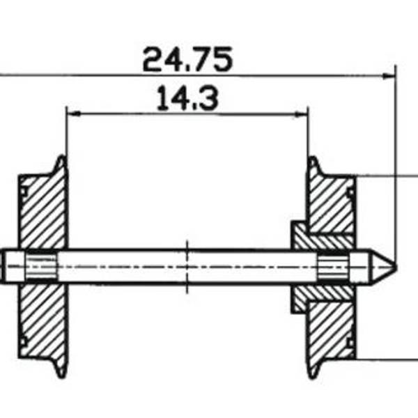 Bilde av Roco - Hjulsett DC, 2 stk - 24,75 dia: 11 mm