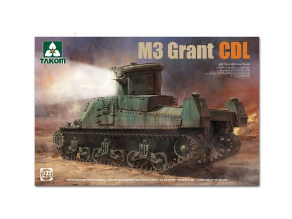 Bilde av Takom - 1/35 British Medium Tank M3 Grant CDL