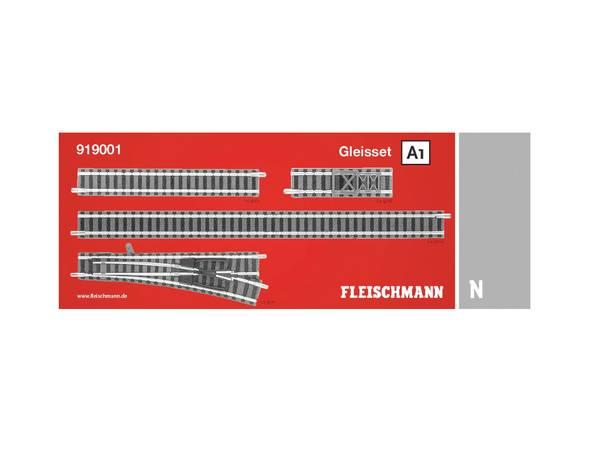 Bilde av Fleischmann N-skala - Skinnesett A1