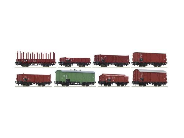 Bilde av Roco - CSD godsvognssett med 8 vogner