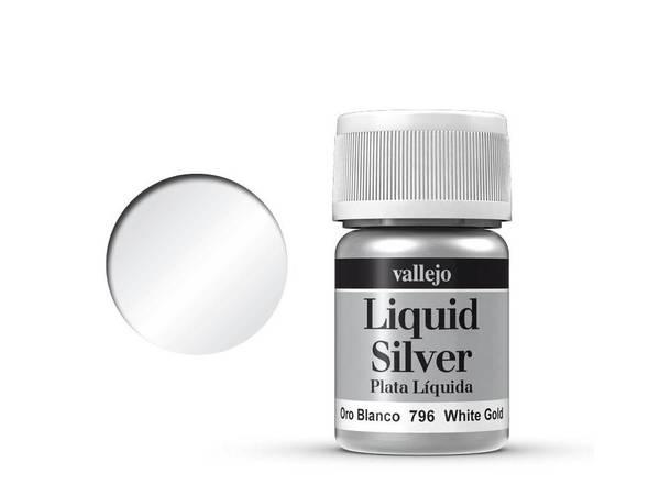 Bilde av Vallejo - Liquid Silver, White Gold