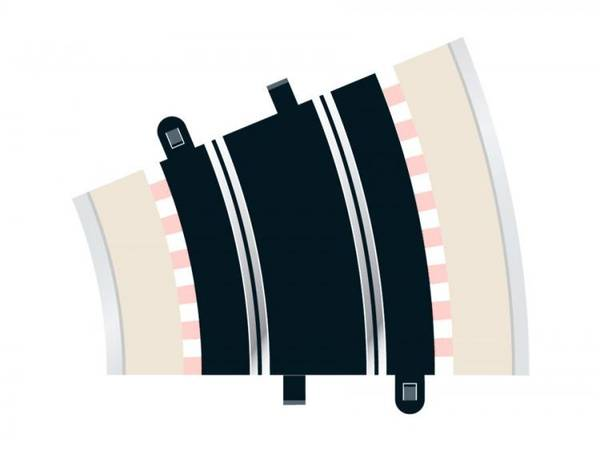 Bilde av Scalextric - Buet skinne R3. 22.5°, 2 stk
