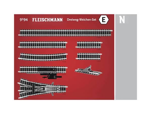 Bilde av Fleischmann N-skala - Skinnesett, E