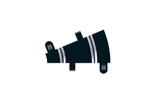 Bilde av Scalextric - Buet skinne R1.  22.5°, 2 stk