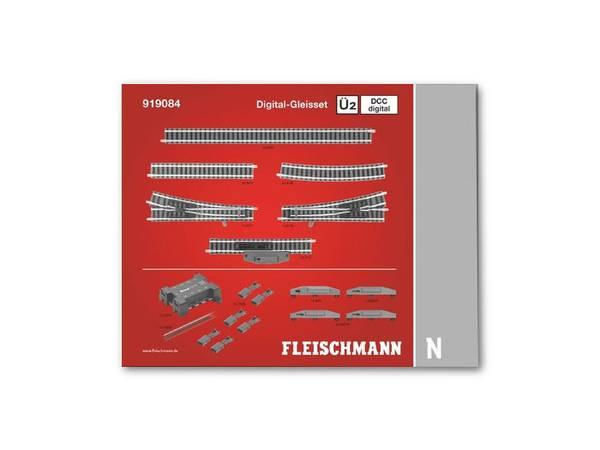Bilde av Fleischmann N-skala - Skinnesett Ü2D, digitalt