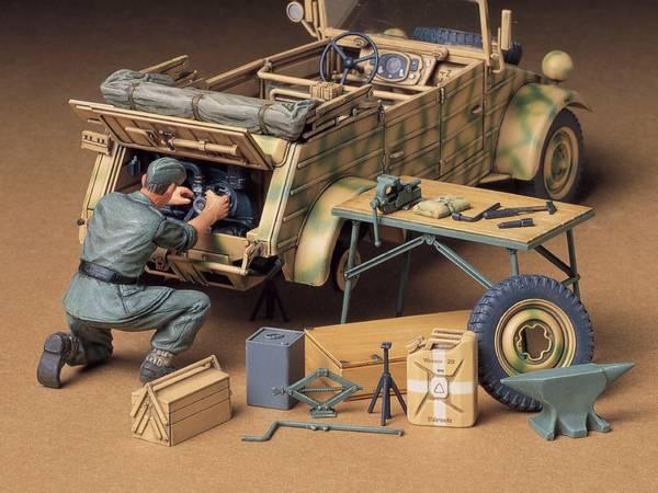 Bilde av Tamiya - 1/35 Motor og verktøy for Kübelwagen