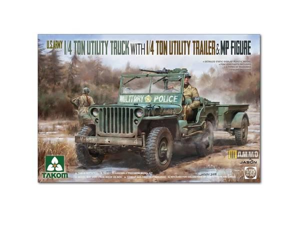 Bilde av Takom - 1/35 Jeep med henger og figur