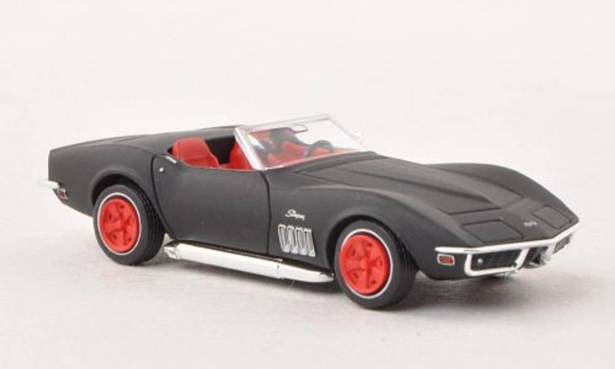 Brekina - Chevrolet Corvette C3 cab, sort