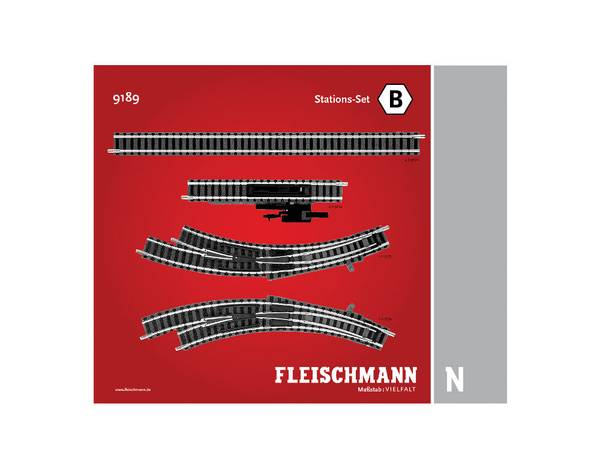 Bilde av Fleischmann N-skala - Skinnesett, B