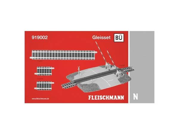 Bilde av Fleischmann N-skala - Skinnesett, BÜ m overgang