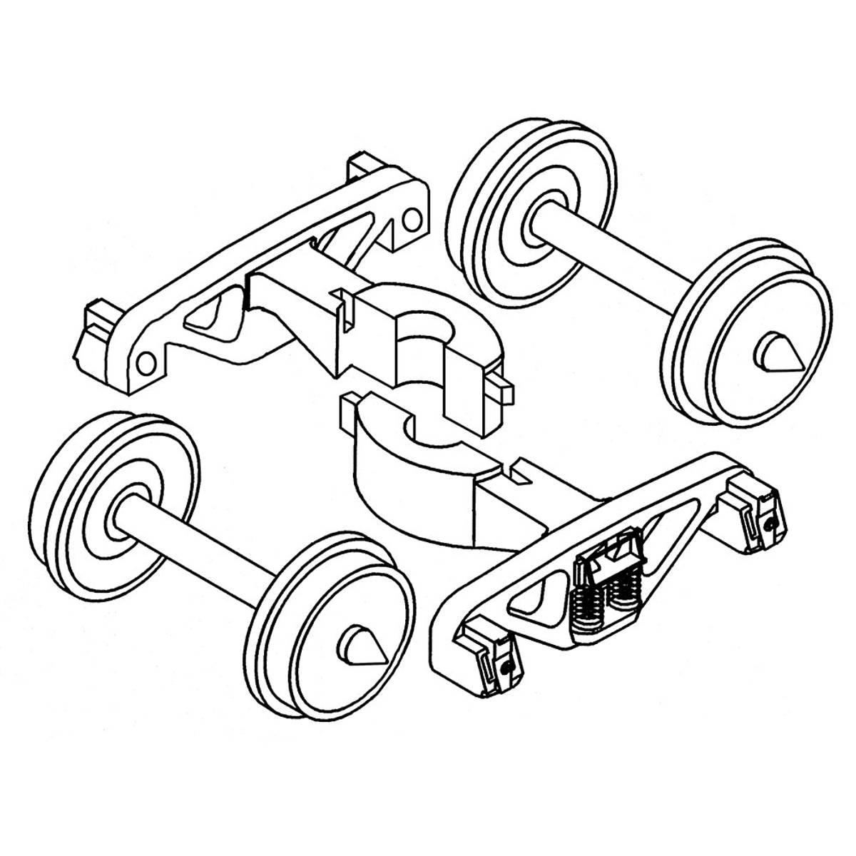 Kadee - H0n3 Arch Bar Trucks 3' 7