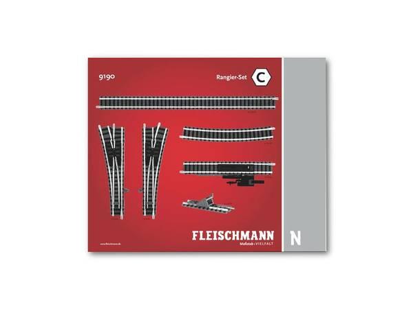 Bilde av Fleischmann N-skala - Skinnesett, C