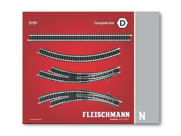Bilde av Fleischmann N-skala - Skinnesett, D