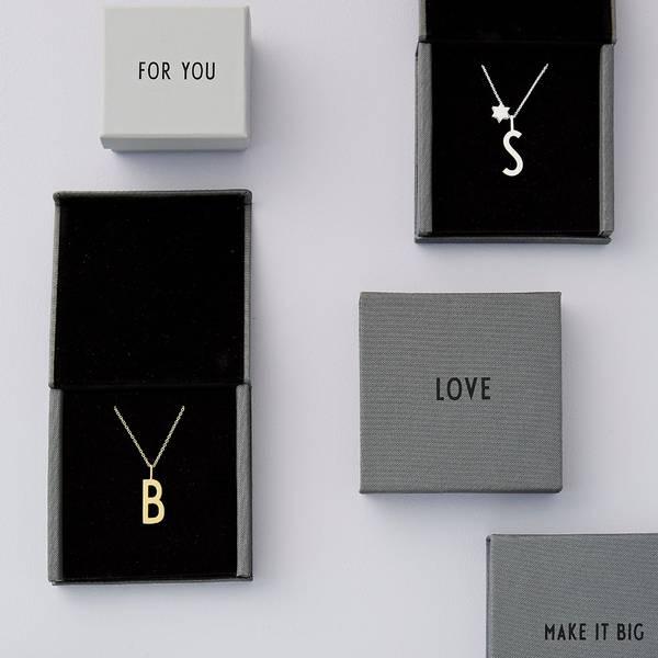 Design letters bokstav anheng 10 mm, forgylt med 18K gull over s