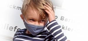 Bilde av Maximo ansiktsmaske barn, blå