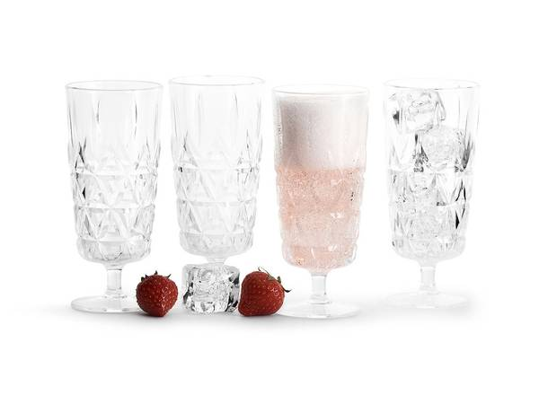sagaform picnic glass 4pk champagne