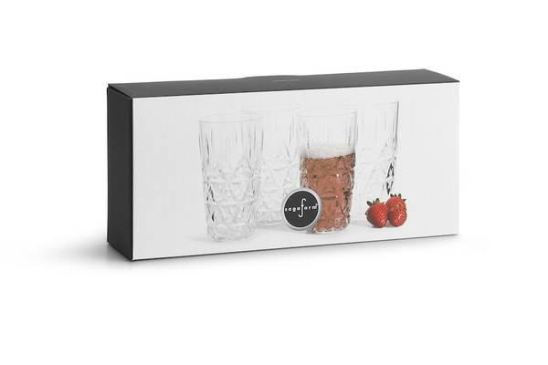sagaform glass 40 cl, 4 pack