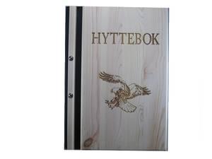 Bilde av 4004. Hyttebok Gjestebok av furu. motiv ørn
