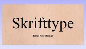 Bilde av Times New Roman