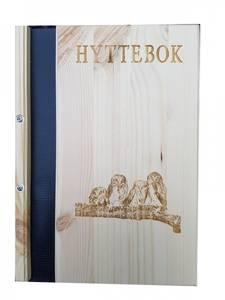 Bilde av Hyttebok med motiv av 4 ugler