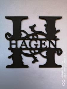 Bilde av NAVNEPLATE, bokstav og navn plate 1360 B