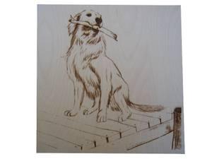 Bilde av 7002. Motiv hund uten ramme