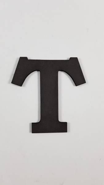 Bokstav 3 mm svart MDF